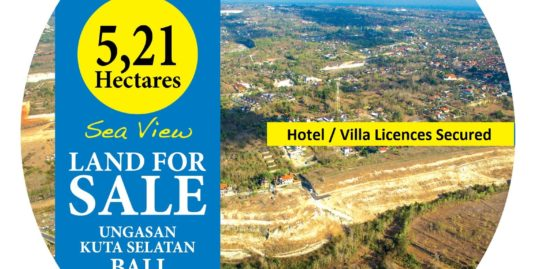 Project Land. 5.21 Hectare with Ocena views near Pandawa Beach
